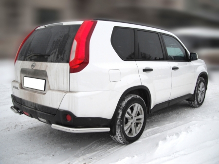 """Nissan X-trail  2011-2014г.в.-Защита заднего бампера """"уголки"""" d-60"""